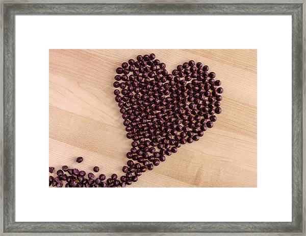 I Heart Chocolate Framed Print