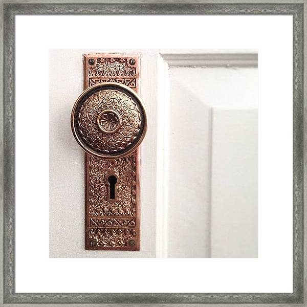 I Just Love These Old Door Knobs! Framed Print