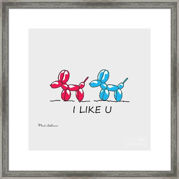 I Like U  Framed Print