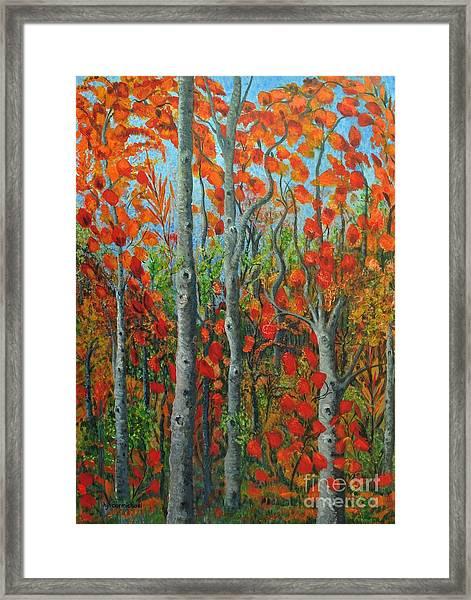 I Love Fall Framed Print