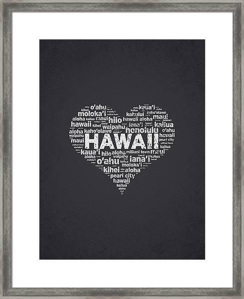 I Love Hawaii Framed Print