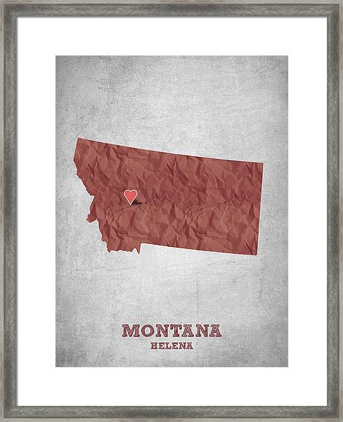 I Love Helena Montana - Red Framed Print