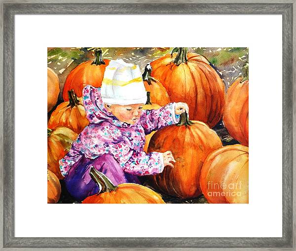 I Love Pumpkins Framed Print