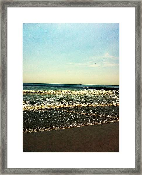 I Love The Beach Framed Print