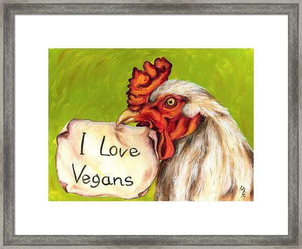 I Love Vegans Framed Print