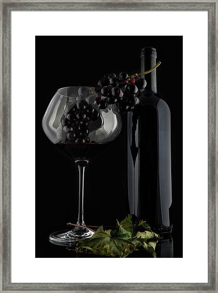I Love Wine ! V Framed Print by Alessandro Fabiano