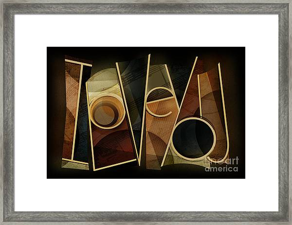 I Love You - Abstract  Framed Print by Shevon Johnson