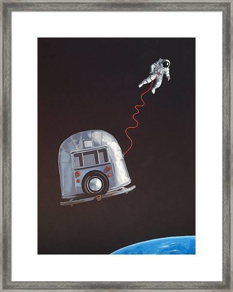 I Need Space Framed Print