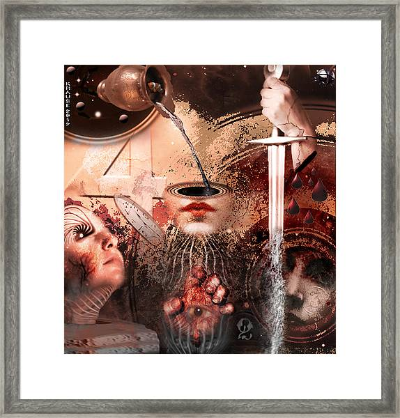 I See Number Four In Beige Framed Print by Peter Krause