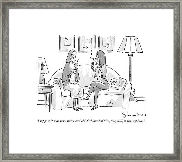 I Suppose It Was Very Sweet And Old-fashioned Framed Print