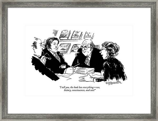 I Tell You, The Book Has Everything - Sex Framed Print