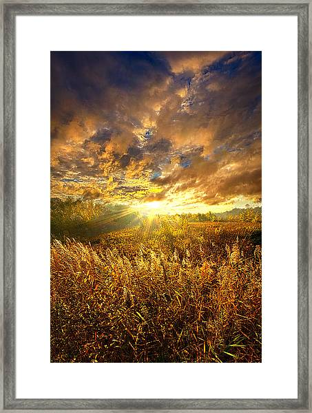 I Walk In The Light Of A New Day Framed Print