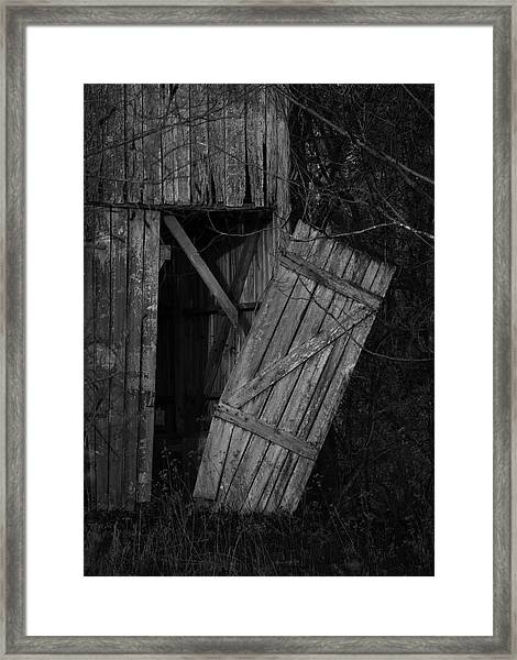 I Watched You Disappear - Bw Framed Print