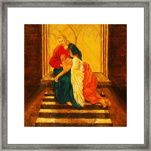 I Will Carry You Through Framed Print
