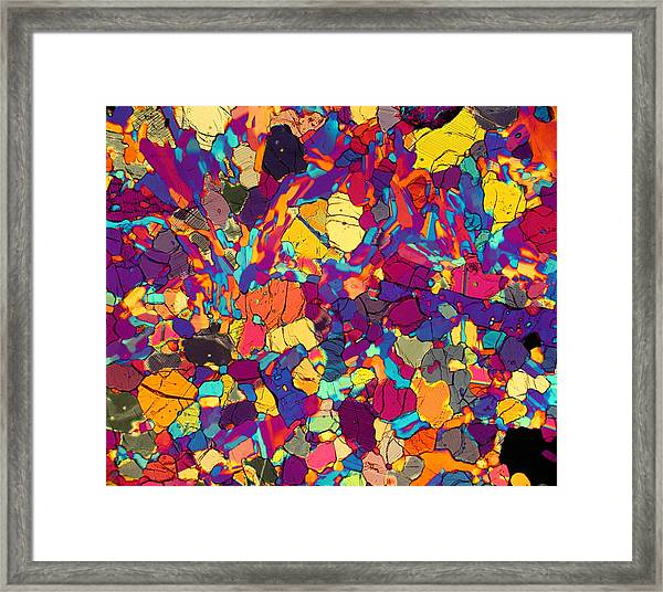 Color Coded Framed Print