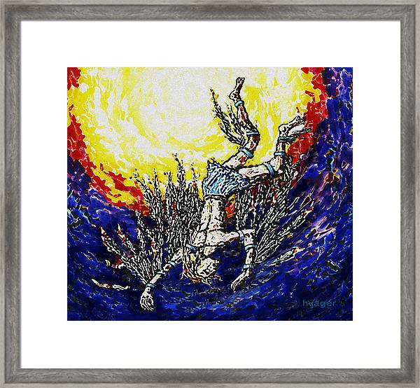 Icarus - The Fall Of Man Framed Print