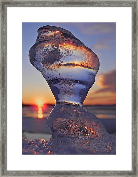 Ice And Water 2 Framed Print
