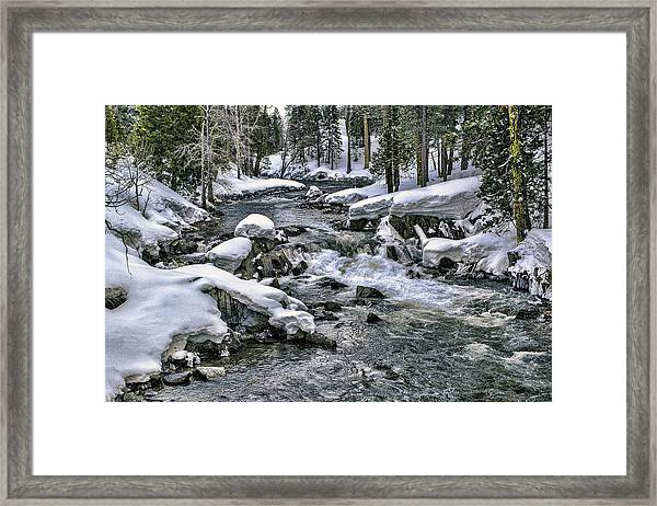 Framed Print featuring the photograph Ice Blue Yuba At Soda Springs by William Havle