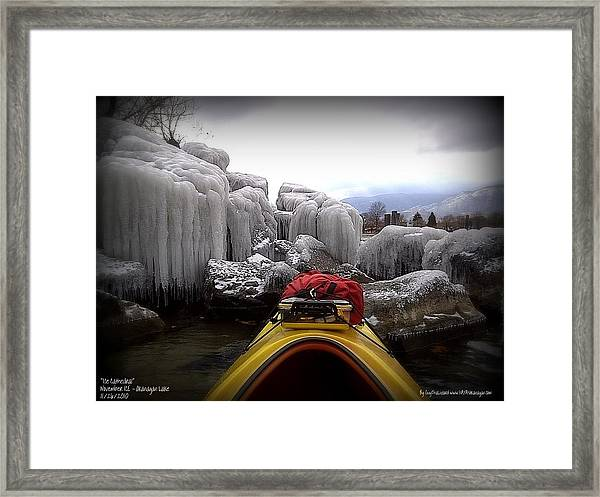 Ice Cathedral - November Ice Framed Print