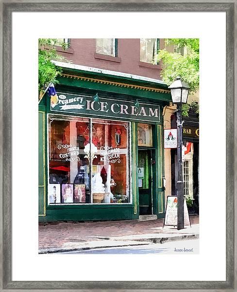 Alexandria Va - Ice Cream Parlor Framed Print