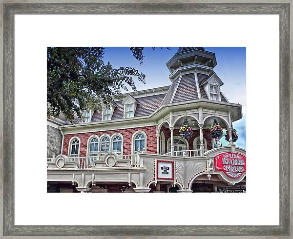 Ice Cream Parlor Main Street Walt Disney World Framed Print