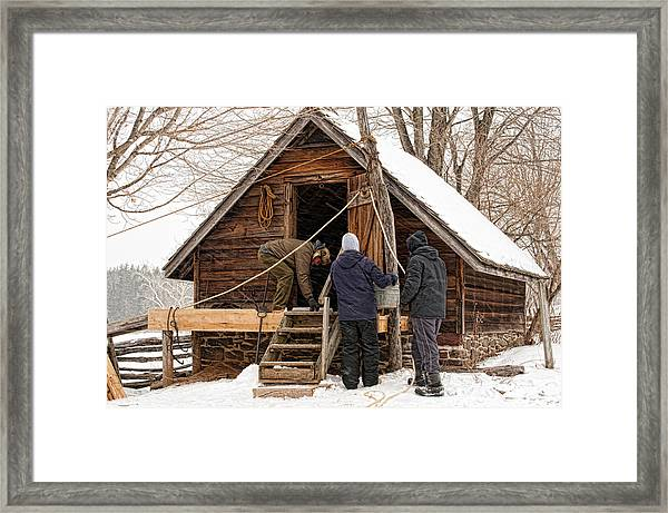 Ice House Framed Print
