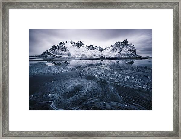 Ice On Stokksnes Framed Print