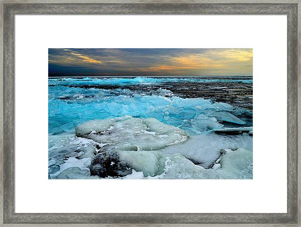 Frozen Beauty In Extreme Framed Print