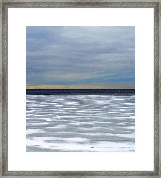 Ice Wind - Pattern - Canada Framed Print