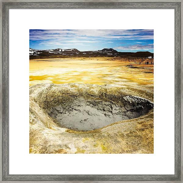 Iceland Geothermal Area Hverir Namaskard Framed Print