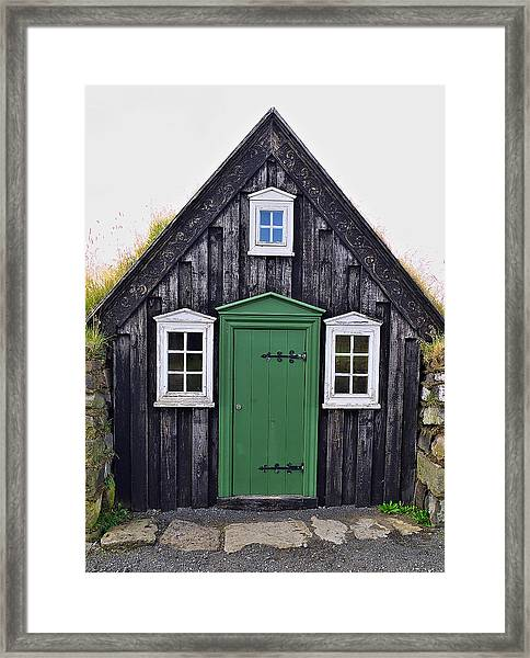 Icelandic Old House Framed Print