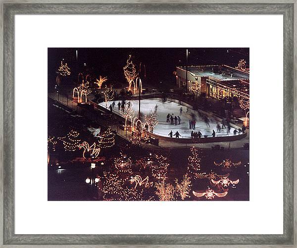 Icer Skaters Framed Print