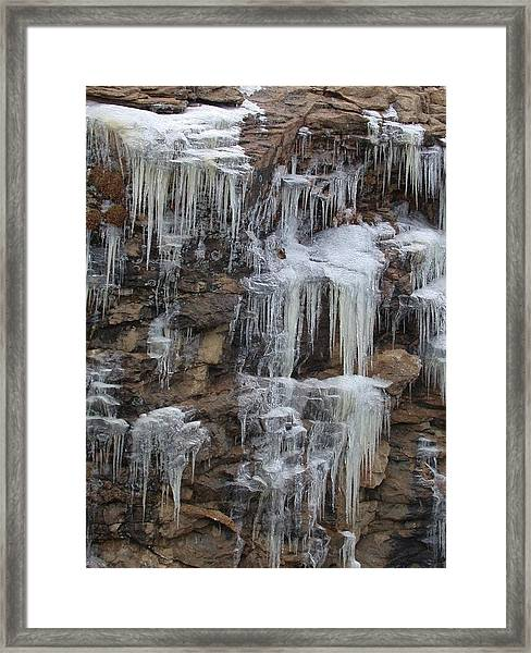 Icicle Cliffs Framed Print