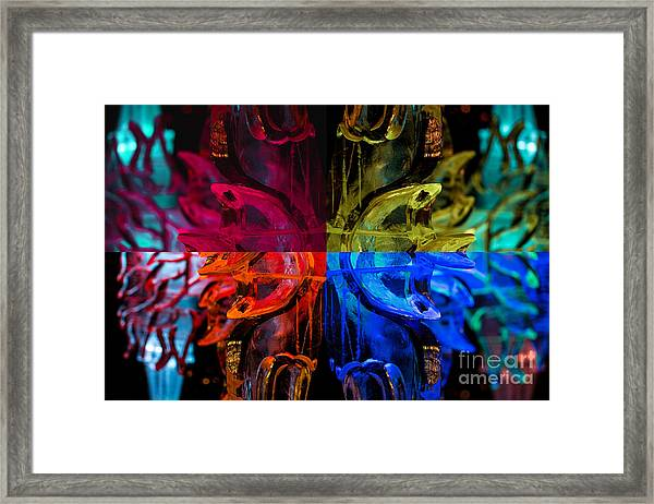 Icicle Mosaic Framed Print