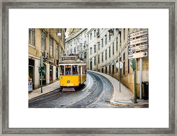 Iconic Lisbon Streetcar No. 28 IIi Framed Print