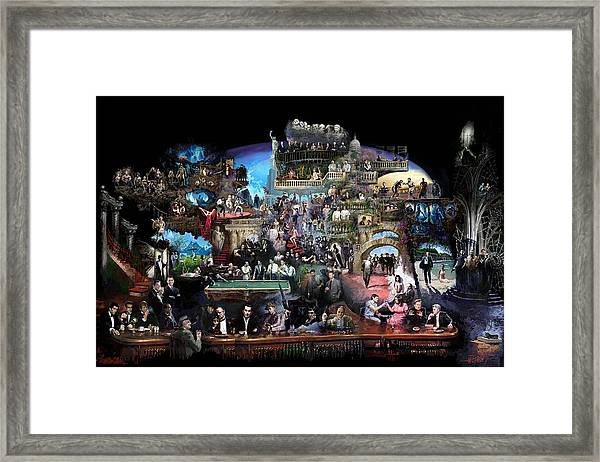 Icons Of History And Entertainment Framed Print
