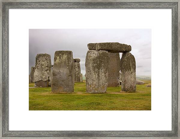 Icons Of Time In The Rain Framed Print