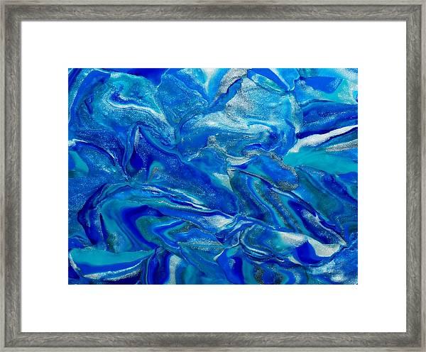 Icy Blue Framed Print