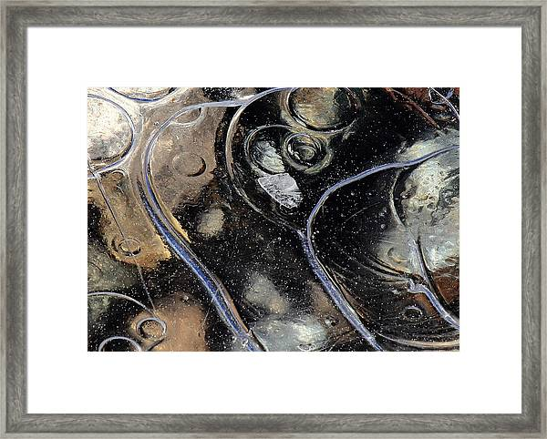 Framed Print featuring the photograph Icy Bubbles by Randy Hall