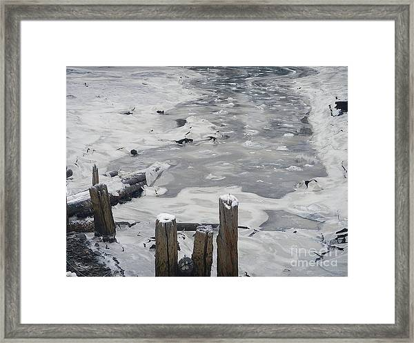 Icy Entrance  Framed Print