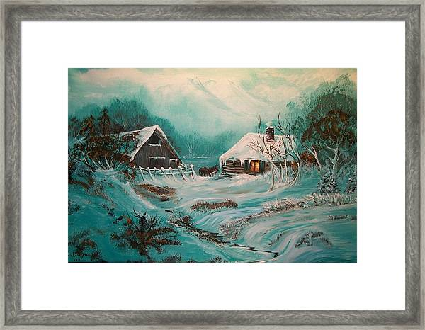 Icy Twilight Framed Print