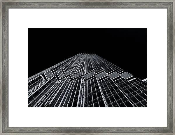 Ids Tower Minneapolis  Mono Framed Print