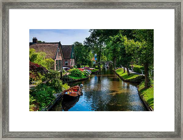 Idyllic Village 15. Venice Of The North Framed Print