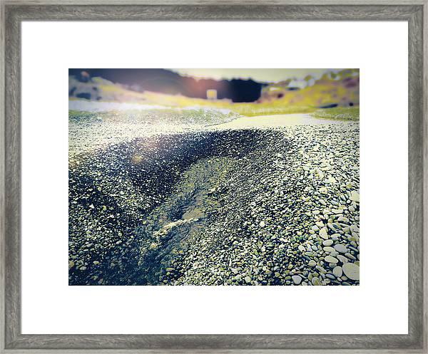 If It Weren't For The Rocks... Framed Print
