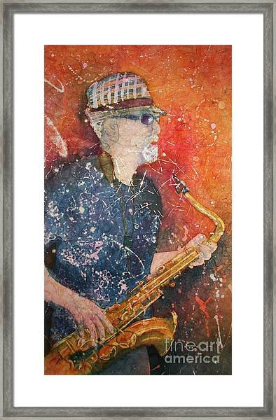 If Rich Played Sax Framed Print