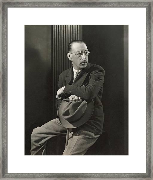 Igor Stravinsky With A Hat Framed Print