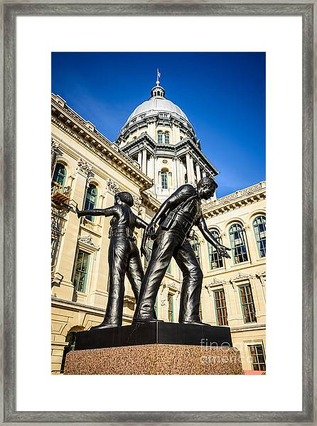 Illinois Police Officers Memorial In Springfield Framed Print
