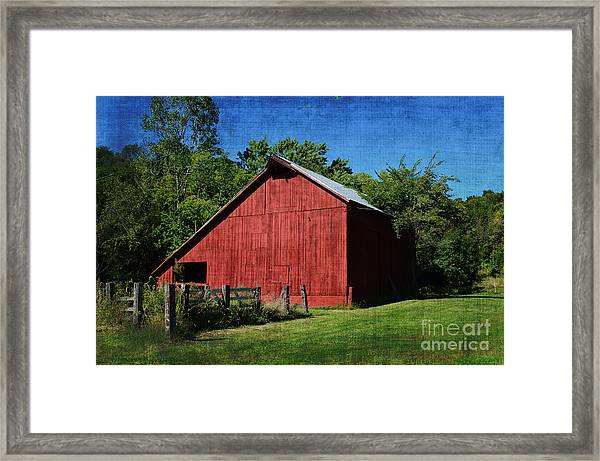 Illinois Red Barn 2 Framed Print