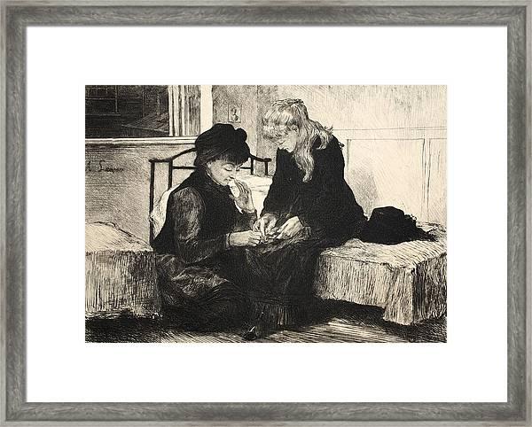 Illustration From La Rue A Londres Framed Print