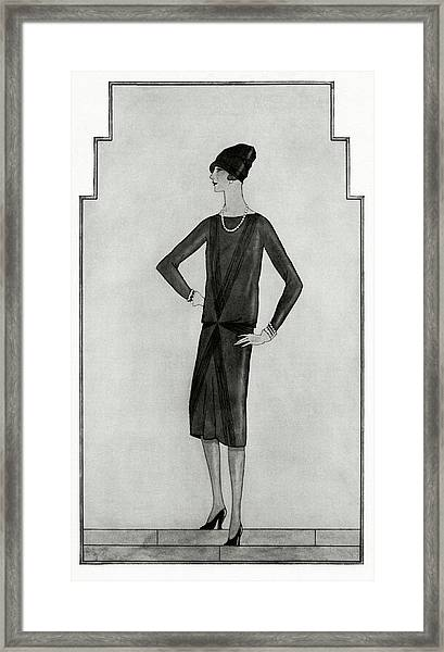 First Little Black Dress By Chanel Framed Print